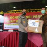 Penyerahan Bantuan KIT DNA kepada DVI POLRI untuk Identifikasi Penumpang Pesawat Sriwijaya Air SJ-182