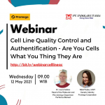 Recording Webinar Cell Line Quality Control and Authentification- Are You Cells What You Thing They Are