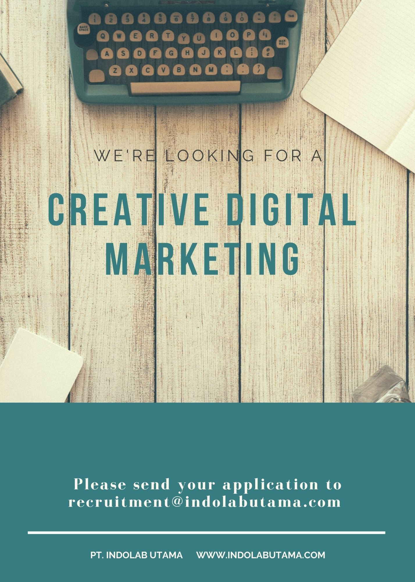 WE ARE LOOKING FOR A CREATIVE DIGITAL MARKETING
