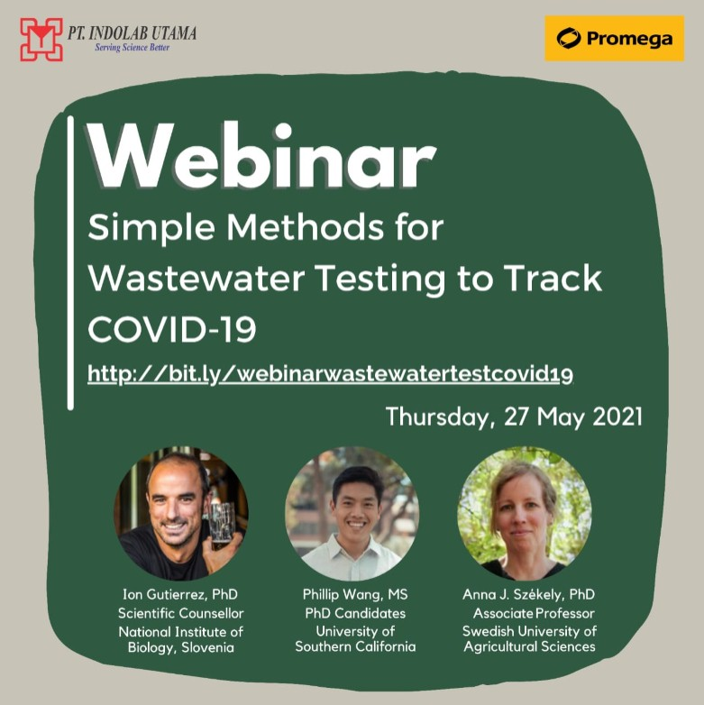 Recording Webinar Simple Methods for Wastewater Testing to Track COVID-19
